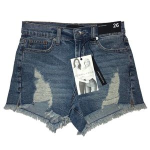 Kendall + Kylie distressed icon shorts